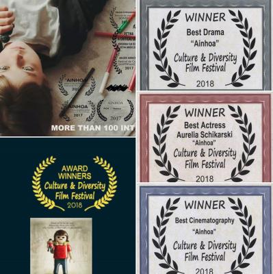"""!""""AINHOA"""" GRAN VENCEDOR DEL """"CULTURE & DIVERSITY FILM FESTIVAL 2018"""" CON 3 PREMIOS EN CALIFORNIA!"""