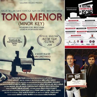 """!""""TONO MENOR"""" (Minor Key) RECIBE EL PREMIO AL MEJOR CORTOMETRAJE EN ISCAR 2018!"""