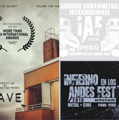"""""""SAVE"""" GANA EL PREMIO AL """"MEJOR CORTOMETRAJE INTERNACIONAL"""" EN PERU!"""