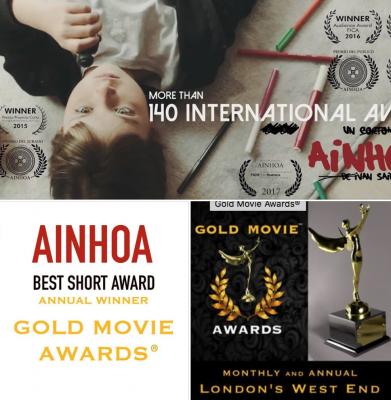 """!""""AINHOA"""" RECIBE EL PREMIO AL """"MEJOR CORTOMETRAJE"""" EN LA EDICIÓN ANUAL DE LOS """"GOLD MOVIE AWARDS"""" EN LONDRES!"""